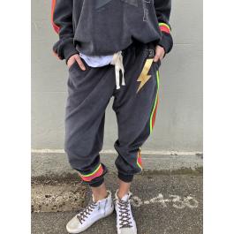 Hammill & Co Velour track pants - Charcoal