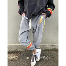 Hammill & Co Velour track pants - Grey marle