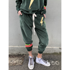 Hammill & Co Velour track pants - Forest green