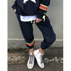 Hammill & Co Velour track pants - Navy