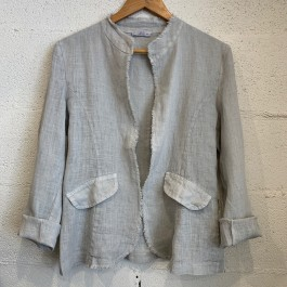 Italian Linen Star Jacket - Grey