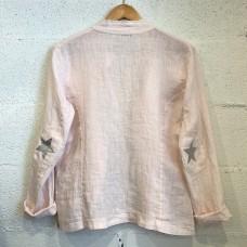 Italian Linen Star Jacket - Pink