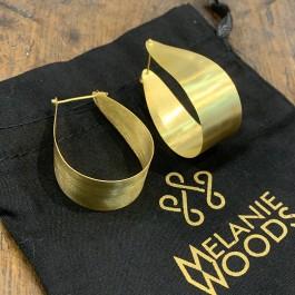 Euro Gold Wide Hoop Earrings