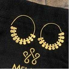 Gold Fern Hoop Earrings