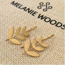 Gold/Brass Leaf Earrings