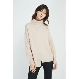 Asymmetric Knit- Champagne Pink