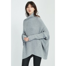 Diagonal Panel Knit - Grey