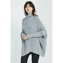Diagonal Panel Knit - Grey