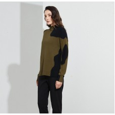 Rounded Inserts Knit - Moss