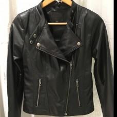 Kate Biker Leather Jacket - BLACK- Lambskin leather