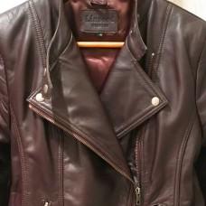 Kate Biker Leather Jacket - DARK BROWN- Lambskin leather