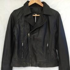 Riley Leather Jacket - BLACK Lambskin leather