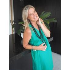Kelli dress - Emerald (green & blue)
