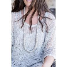Beaded necklace  -  beads & sphere - sustainable jewellery