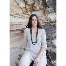 Beaded necklace Black - sustainable jewellery