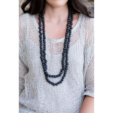 RAINFOREST JEWELLERY - beads / Black