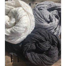 Linseed Designs - Black - hand loomed linen gauze scarf