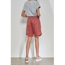 Tirelli classic shorts in linen - soft ruby