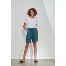 Tirelli classic shorts in linen - teal