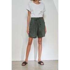 Tirelli classic shorts in linen - emerald