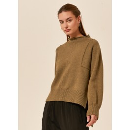 Tirelli high neck relaxed knit - pesto