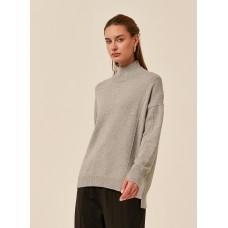 Tirelli Step Cuff cotton blend jumper - grey
