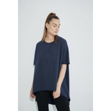 Tirelli embossed swing top - deep navy