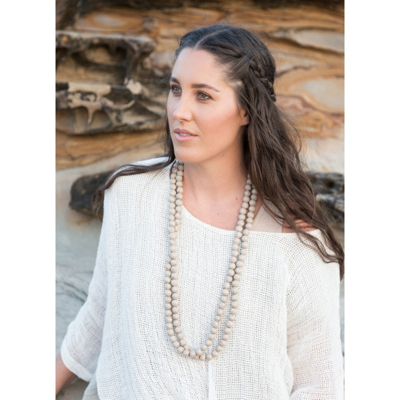 Beaded necklace  Ivory - sustainable jewellery