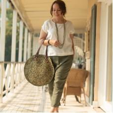Vary Bag by Tanora - Natural/Green