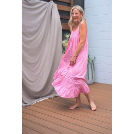 Linseed Designs pink linen Carley dress