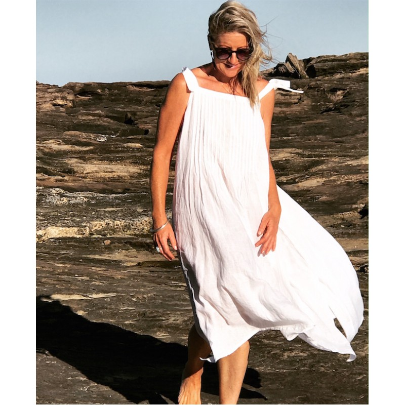 Linseed Designs white Linen Maxi dress