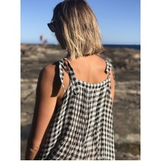 Maxi dress - black/white check