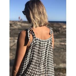 Maxi dress - black/white check