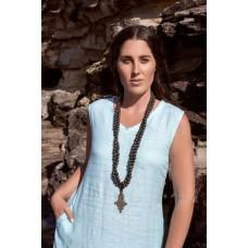 Linseed Designs aqua linen Victoria dress