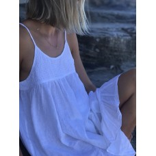 Linseed Designs white linen Carley dress