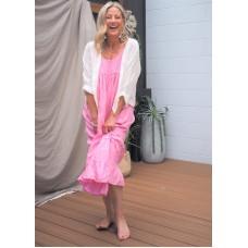 Linseed Designs pink linen Carley dress