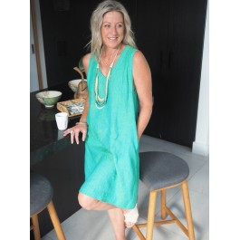 Kelli dress - light green (green & yellow)