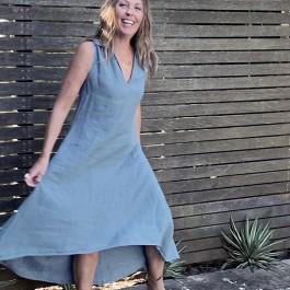 The Circlyn Dress - Blue Azure