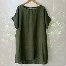 Holly shift dress/top - Forest Green