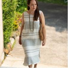 Linseed designs striped Linen SAKI Dress - Striped (horizontal)