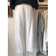 Linseed Designs 3/4 length linen pants - White