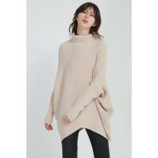 Diagonal Panel Knit - pink