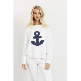Frayed Anchor Windy - White