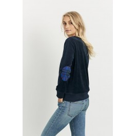 Velour Plaid Windy - French Navy