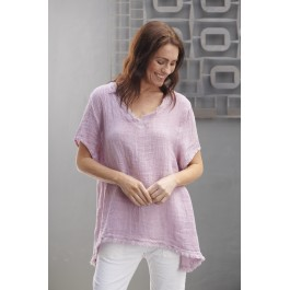 Willow Waffle top  - Lilac