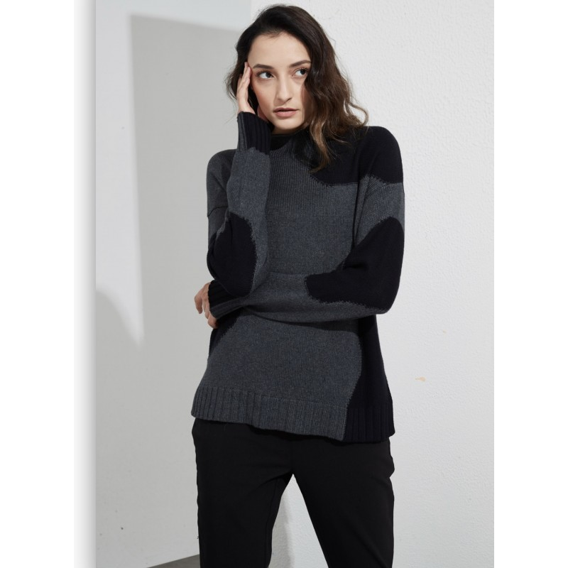 Rounded Inserts Knit - Charcoal