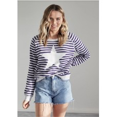 Jovie the label striped St Tropez Sweater