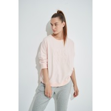Tirelli 3/4 Sleeve weekend embossed sweat - blush