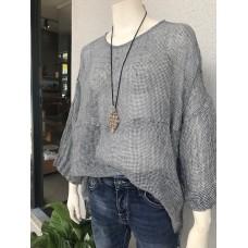 Melanie Linen gauze shirt - black and white check