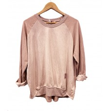 Mitelli Faux Suede Sweat top - Dusty Pink